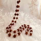 Rudraksha & Quartz Crystal Mala Prayer Beads