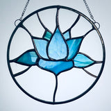 Blue Lotus Stained Glass