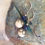 Mukta Mother of Pearl & Lapis Lazuli Earrings