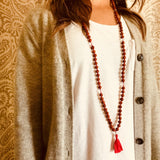 Shakti Rudraksha & Quartz Crystal Kriya Mala Prayer Beads