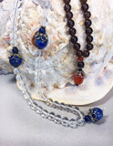 Clear Quartz and Lapis Gemstone Mala