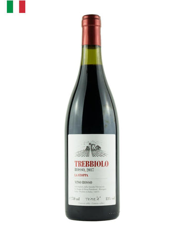La Stoppa Trebbiolo Rosso, red wine, natural wine, 60% Barbera, 40% Bonarda, limestone and clay, with iron and galet subsoils in Emilia-Romagna, Northern Italy, Primal Wine - primalwine.com