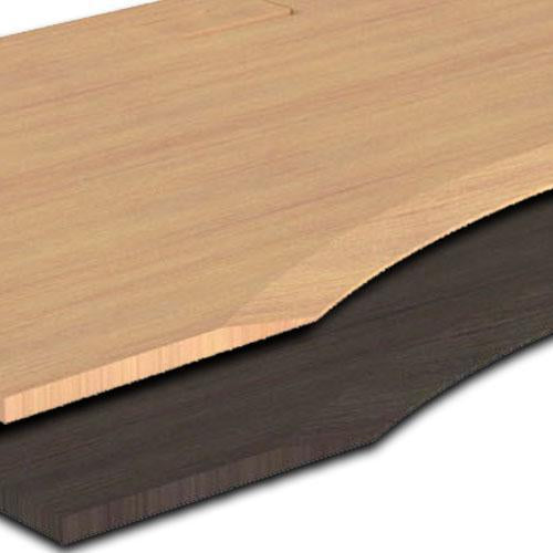 Table Top - Eco Bamboo Ergo Curve - Large