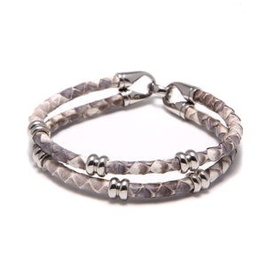 Bracelet python de luxe chronos de la collection flys jewelry