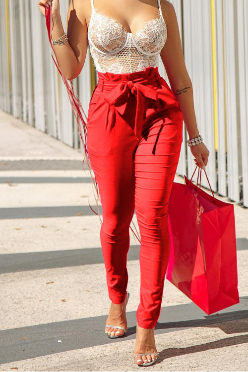 Wearvip Casual Pure Color Bodycon Pants