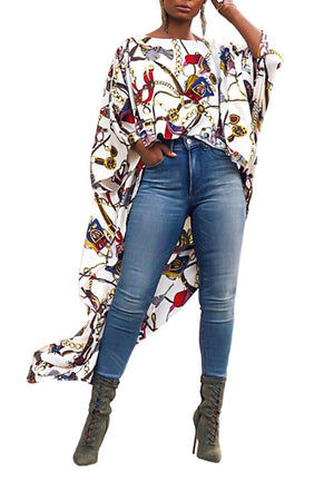 Wearvip Casual Printed chiffon blouse