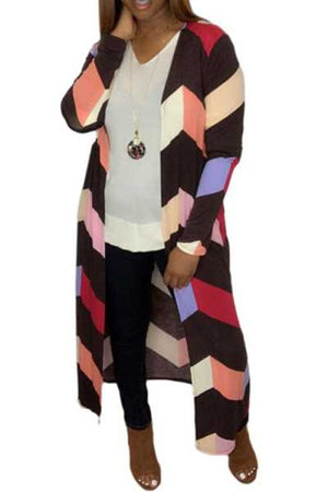 Wearvip Casual Color Patchwork Coat