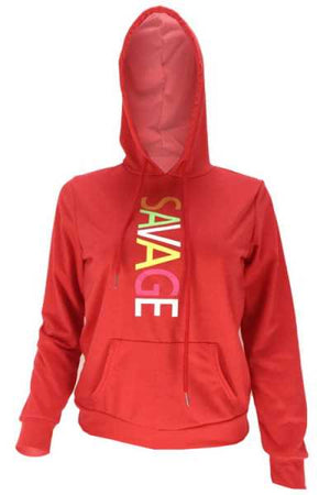 Wearvip Casual Letters Print Hooded Hoodie