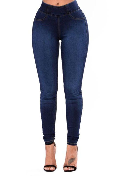 Wearvip Casual Bodycon Jean Pants