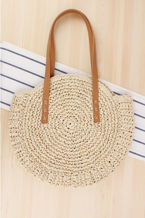 Wearvip Bohemian Round Paper String Bag