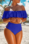 Wearvip Bohemian Solid Color One-shoulder Bikini