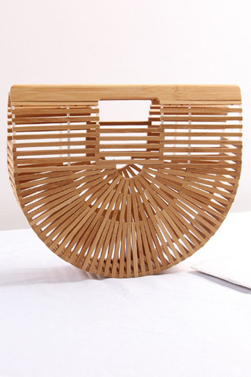 Wearvip Casual Bamboo Sticks Handbag