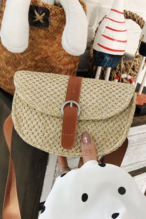 Wearvip Casual Ethnic Style Paper String Single Handbag