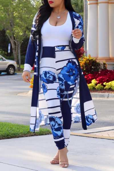 Wearvip Casual Long Sleeve Tie Dye Print Pants Sets