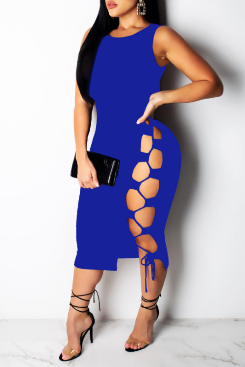 Wearvip Party Strapless Sleeves Midi Dress