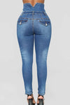 Wearvip Casua High Waist Denim Pants
