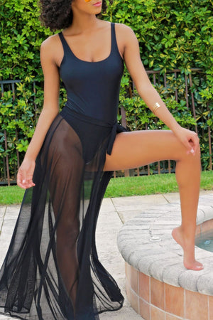Wearvip Mesh See-through One-piece