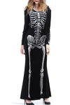 Wearvip Casual Cute Print Halloween Maxi Dress