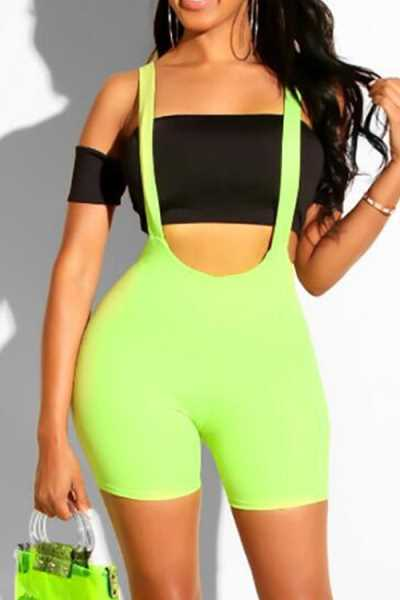 Wearvip Sporty Solid Color Bike Shorts