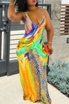 Wearvip Casual Sleeveless Gradient Print Maxi Dress