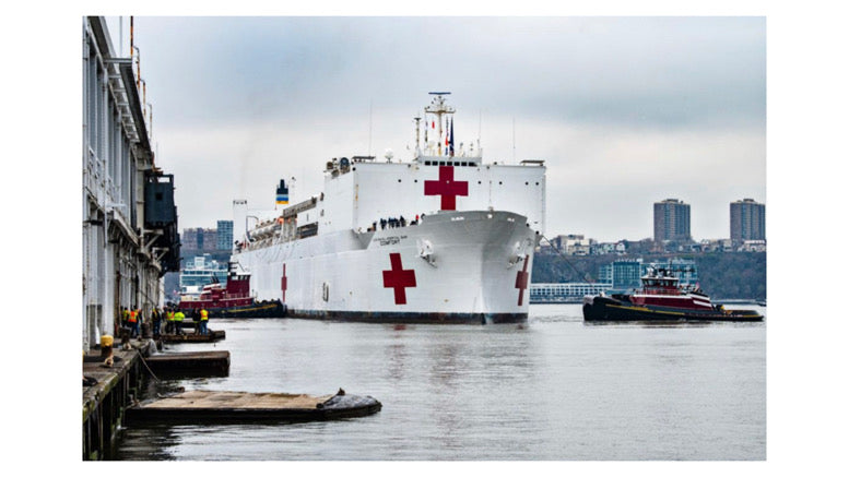 NYC coronavirus death tops 1,100 - A 1,000-bed Navy hospital ship arrives in NYC