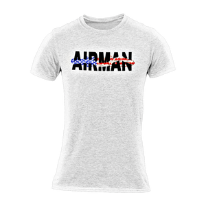 Military apparel, military shirts, patriotic apparel - Army apparel, Marine shirts, Navy shirts, Air Force shirts, Veteran apparel, Patriotic apparel - Airman Women's T-shirt