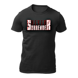 Military t-shirts, patriotic apparel, Army, Marine, Navy, Air Force, Veteran - Never Surrender T-shirt