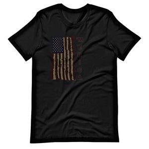 Military t-shirts, patriotic apparel, Army, Marine, Navy, Air Force, Veteran - 'Merica T-Shirt