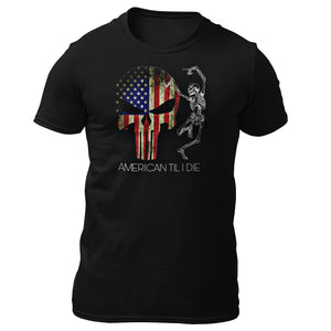 Military t-shirts, patriotic apparel, Army, Marine, Navy, Air Force, Veteran - American Til I Die T-shirt