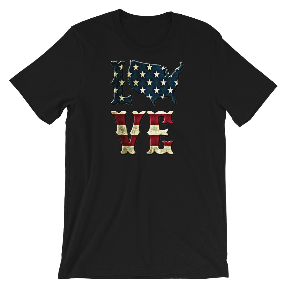 Military apparel, military shirts, patriotic apparel - Army apparel, Marine shirts, Navy shirts, Air Force shirts, Veteran apparel, Patriotic apparel - I Love America T-shirt