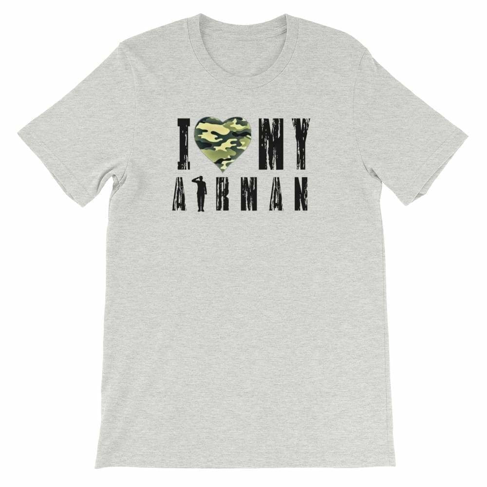 Military apparel, military shirts, patriotic apparel - Army apparel, Marine shirts, Navy shirts, Air Force shirts, Veteran apparel, Patriotic apparel - I Love My Airman T-shirt