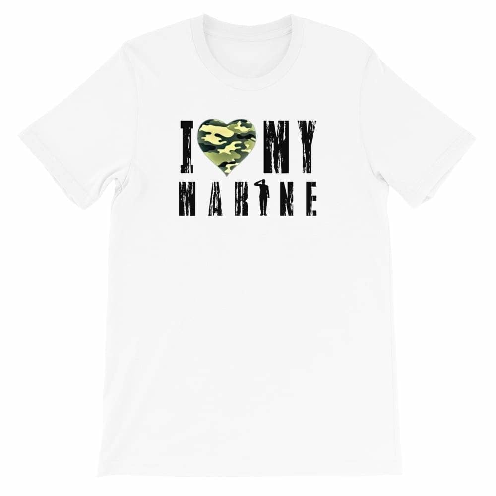 Military apparel, military shirts, patriotic apparel - Army apparel, Marine shirts, Navy shirts, Air Force shirts, Veteran apparel, Patriotic apparel - I Love My Marine T-shirt