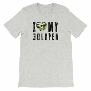 Military t-shirts, patriotic apparel, Army, Marine, Navy, Air Force, Veteran - I Love My Soldier T-shirt