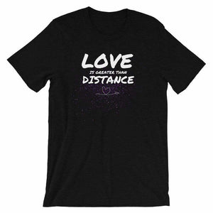 Military t-shirts, patriotic apparel, Army, Marine, Navy, Air Force, Veteran - Love is Greater Than Distance T-shirt