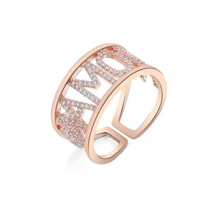 Bague AMORE - or rose - bagues - La boutique by c.