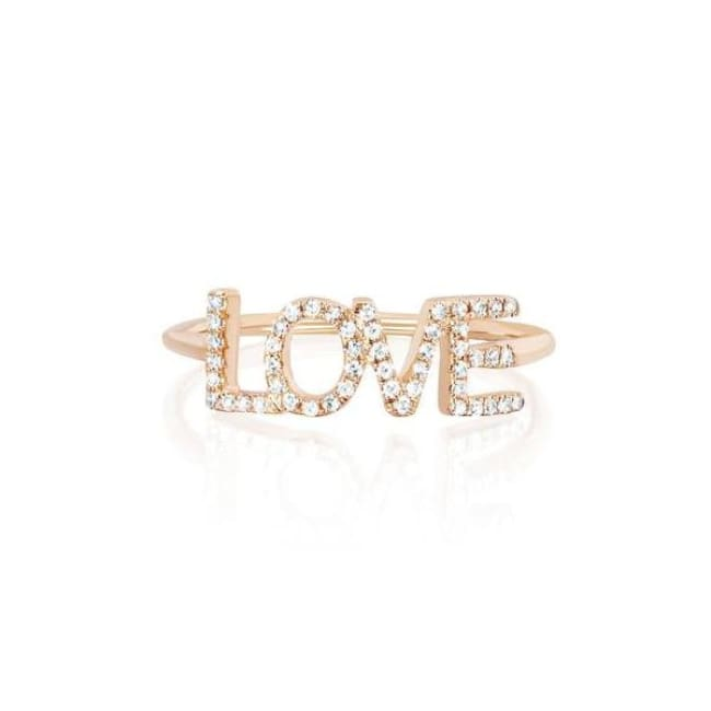 Bague LOVE - 54 / or rose - bagues - La boutique by c.