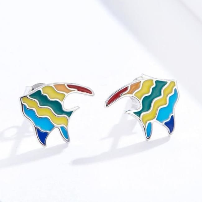 Boucles d'oreilles ARC-EN-CIEL de COLLECTION MY GIRL - boucles d'oreilles - La boutique by c.