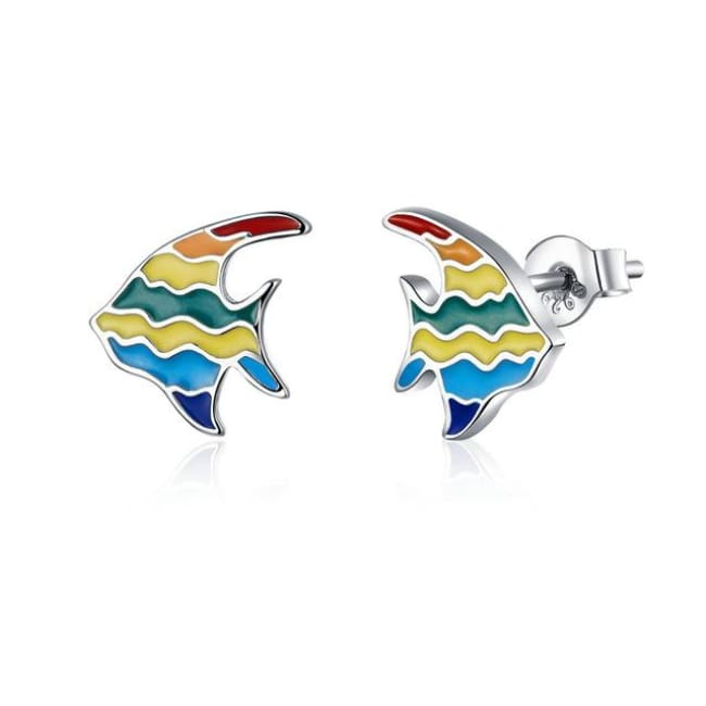 Boucles d'oreilles ARC-EN-CIEL de COLLECTION MY GIRL - poisson - boucles d'oreilles - La boutique by c.