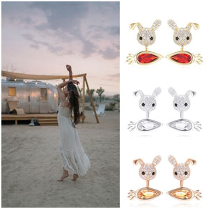 Boucles doreilles MINI CRAZY LAPIN - La boutique by c.