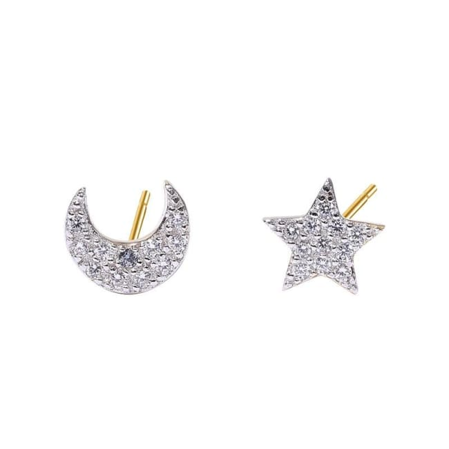 Boucles doreilles STAR AND MOON - boucles doreilles - La boutique by c.