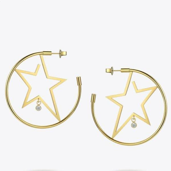 Boucles Doreilles Superstar - Or - Bijoux - La Boutique By C.