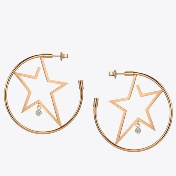 Boucles Doreilles Superstar - Or Rose - Bijoux - La Boutique By C.