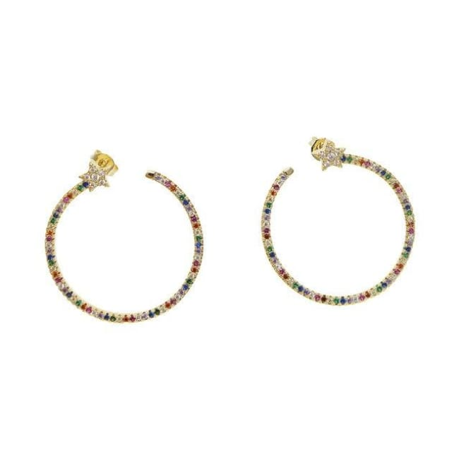 Boucles d'oreilles TIMELESS de la COLLECTION INDISCRETE - Arc-en-ciel - boucles d'oreilles - La boutique by c.
