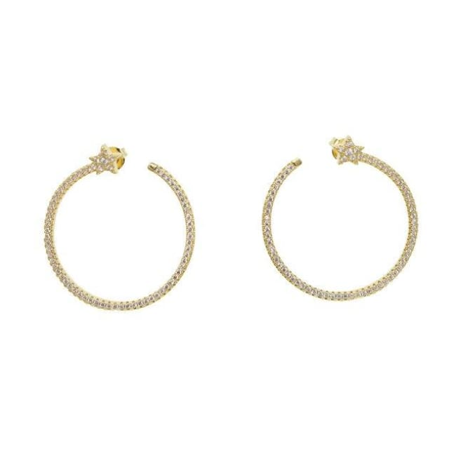 Boucles d'oreilles TIMELESS de la COLLECTION INDISCRETE - Blanc - boucles d'oreilles - La boutique by c.
