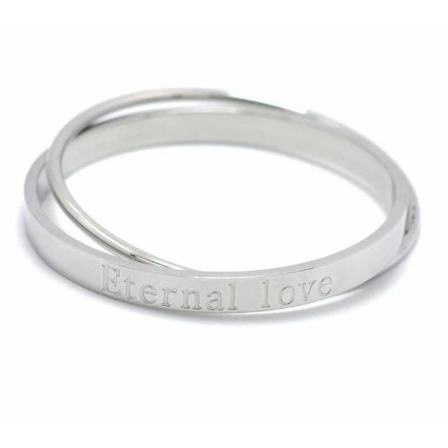 Bracelet 2 joncs entrelacés ETERNAL LOVE - argent - bracelets - La boutique by c.