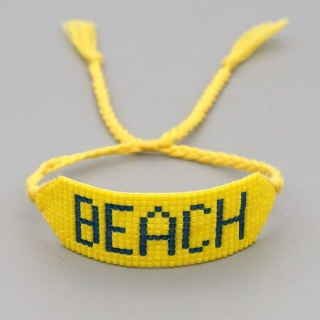 Bracelet BEACH de la COLLECTION SOLEDAD - jaune - bracelets - La boutique by c.
