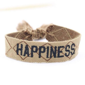Bracelet HAPPINESS de la COLLECTION ANOTHER STORY - beige - bracelets - La boutique by c.