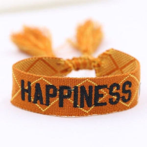 Bracelet HAPPINESS de la COLLECTION ANOTHER STORY - orange - bracelets - La boutique by c.