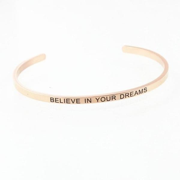 Bracelet Jonc À Message Collection Inspiration - Believe In Your Drea - Bijoux - La Boutique By C.