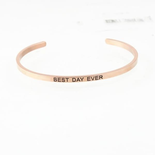 Bracelet Jonc À Message Collection Inspiration - Best Day Ever - Bijoux - La Boutique By C.